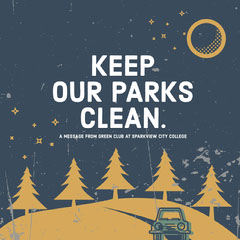 Dark Toned, Gold, White and Blue Cleaning Forest Ad Instagram Post Cleaning Service