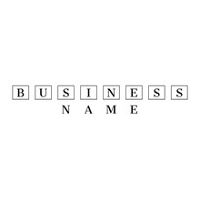 Black and White Business Logo with Squares Logo