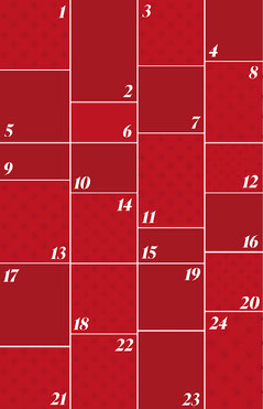 Red Snowflake Advent Calendars Poster Red