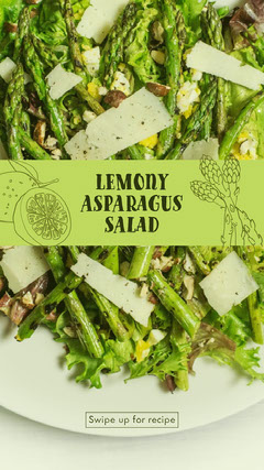 Lemony Asparagus Salad Healthy