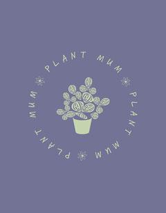 purple green plant mum graphic t shirt portrait  Plants