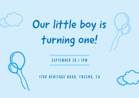 Our little boy is turning one! 1st Birthday Invitation