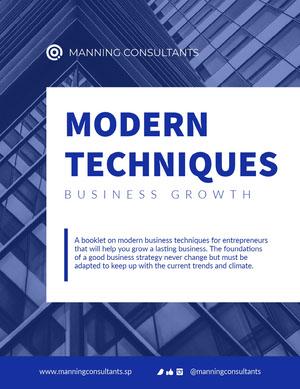 Blue White Business Booklet Letter Booklet