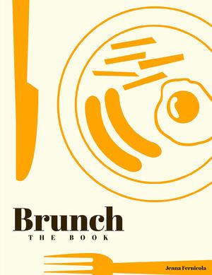 Orange Mid Century Modern Cook Book Cover portada de libro de cocina