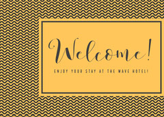 Welcome! Welcome Poster