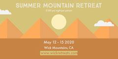 Mountain Retreat Eventbrite Banner  Event Banner