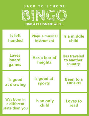 White and Green Bingo Card Carta da bingo