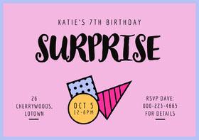 SURPRISE Birthday Invitation (Girl)