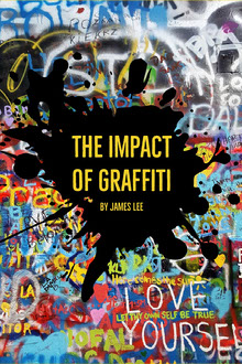 Colorful The Impact of Graffiti Book Cover Couverture de livre