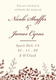 Floral Wedding Invitation Invito