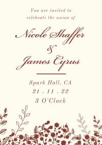 Nicole Shaffer<BR>&<BR>James Cyrus Invitación de boda