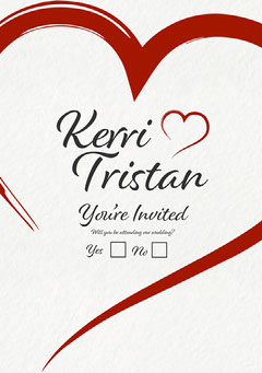 Heart Kerri Invite  Heart