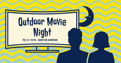 Blue, Yellow and White Movie Night Ad Facebook Banner Movie Night Flyer