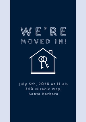 WE'RE MOVED IN! Housewarming Invitation