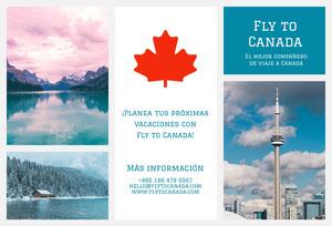 fly to Canada travel brochures  Folleto
