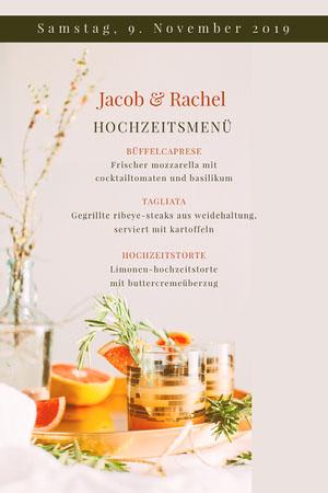photo wedding menu Menü