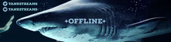 Blue, Monochrome Shark Offline Stream Twitch Banner Stream
