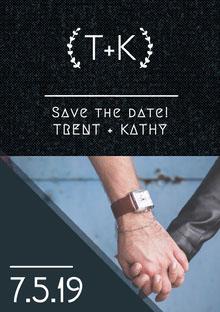 T+K Convite de casamento