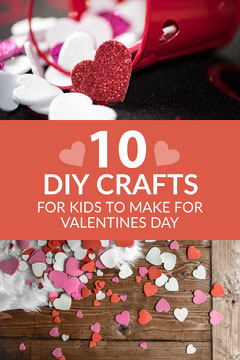 Pink and White 10 DIY Crafts Pinterest Valentine's Day