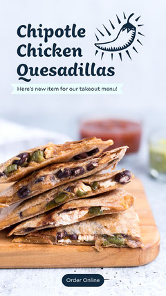 chipotle quesadilla instagram story Cheese
