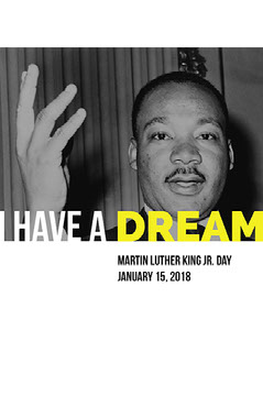 Black, White and Yellow Martin Luther King Jr Day Event Speaker Instagram Story Instagram Flyer