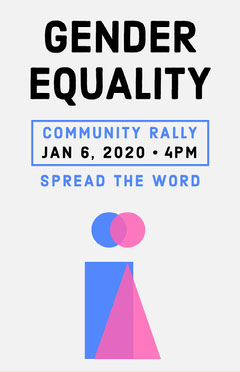 Pink and Blue Gender Equality Rally Flyer Political Flyer