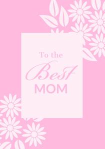 Pink Feminine Floral Mothers Day Card Tarjeta del Día de la Madre