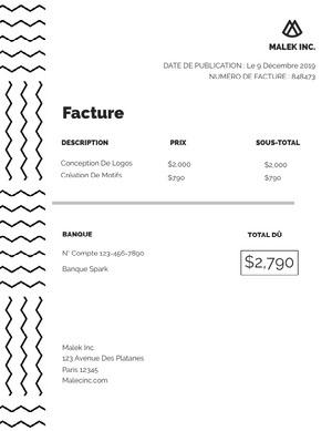 design company invoice  Facture