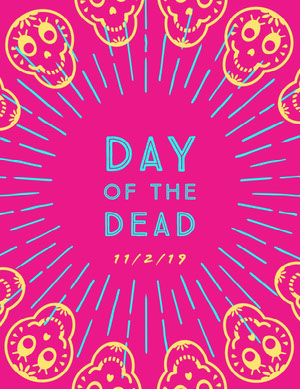 Day of the Dead Flyer Pink Flyers