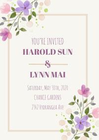 HAROLD SUN<BR>&<BR>LYNN MAI 結婚賀卡