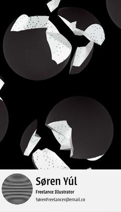 Illustrative Freelance Illustrator Business Card Pattern Design