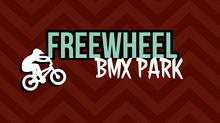 Brown White and Blue Freewheel BMX Park Banner Portada de Facebook