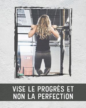 Strive for progress Instagram portrait  Affiche de motivation