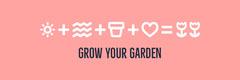 White and Pink Sentence Banner Garden