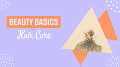 Purple & Orange Beauty Basics Hair Care YouTube Thumbnail Beauty