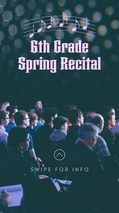 spring recital instagram story Spring
