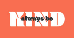 Orange and White Typographic Kindness Facebook Post Graphic Anti-Bullying