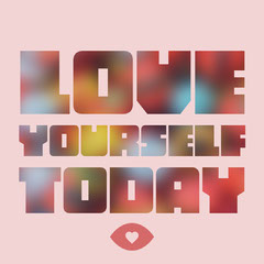 Pink Love Yourself Instagram Square Lifestyle