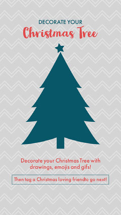 Grey, Red and Green, Christmas Tree Decoration Social Game, Instagram Story Trees