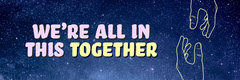 Navy All In This Together Banner Stars