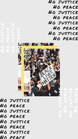 Justice Protest Layered Photo and Text Collage