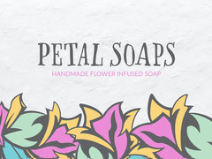 Green & Purple Abstract Flowers Petal Soaps Facebook Shop Cover Shopping