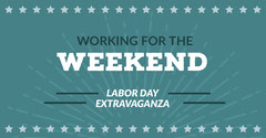 Blue and White Labor Day Social Post Labor Day Flyer