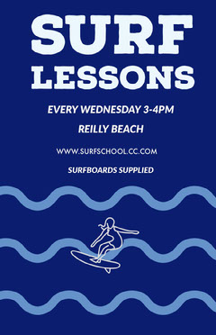 Surf Lessons Poster Water