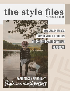 Brown & Cream Style Newsletter Fashion Magazines Cover
