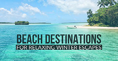Blue Cold Toned Beach and Sea Facebook Banner Ad  Boats