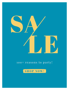 SALE Newsletter Promotion