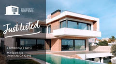 Blue Just Listed Twitter House For Sale Flyer