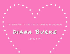 Diana Burke Birthday