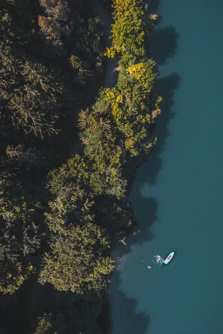 Aerial Shot of Forest and Lake Photo Adventure and Travel Pinterest Graphic ADVENTURE exploring Never stop
